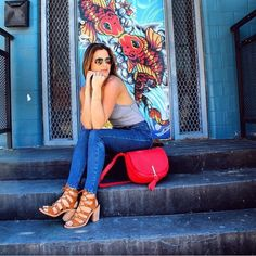 Spotted: Our favorite Bachelorette, JoJo Fletcher, carrying the Carson Saddle Bag in Canyon Sunset!