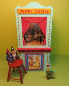 1:12 Scale puppet theater.