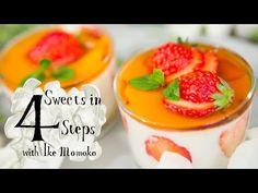 4stepで出来るとろけるメープルミルクプリンの作り方  Creamy Maple Milk Custard Pudding : Sweets In 4steps with Ike Momoko - YouTube