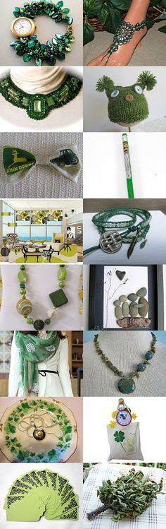 Beautiful Green finds by SandyCasp on Etsy--Pinned with TreasuryPin.com #greengiftguide
