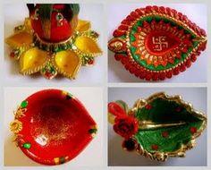 Diya Decoration Ideas, Diwali Diya Decoration, Deepawali Diya Ideas ~ Diwali Celebrations 2012