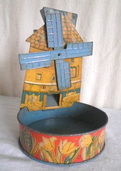 Old Tin T Cohn Dutch Windmill Water Toy