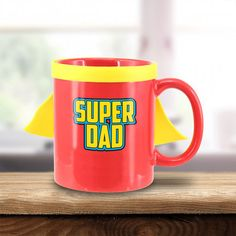 Homme Super Papa Imprimé Drôle T Shirt Mug Coaster Ensemble Cadeau Fête des Pères