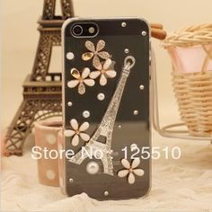 Aliexpress.com : Buy Free Shipping  Crystal Rhinestones Fashion Lucky Clover Effiel Tower Transparent Cover Case For Apple iPhone 5G from Reliable case for iphone 5 lucky suppliers on Skytech Global Technology INC. $5.63