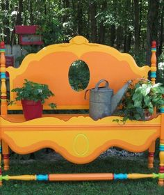 15 Whimsical Ways to Use Old Furniture in Your Flower Bed | Hometalk