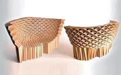 Com design orgânico, o sofá Radiolarian da Lazerian valoriza as formas triangulares.