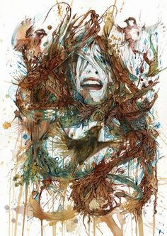 Portraits in Ink and Tea by Carne Griffiths presented at London Art Fair Meet an amazing artist and learn more about London Art Fair. London Art Fair, Portraits, Abstract Portrait, Human Art, Fine Art Photo, Back To Nature, Abstract Styles, Artist At Work, Traditional Art