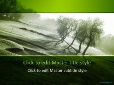 golf powerpoint templates and backgrounds | free green powerpoint, Modern powerpoint