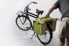 The perfect picnic basket : Fits on your bike, holds the picnic + gear, and turns into a table.  Wonderful Dutch design