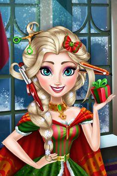 El juego de peluquería más bello para esta Navidad de la princesa Elsa Frozen. Bello es poco.