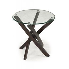 Xenia Glass-Top Round End Table ovERSTOCK  $204