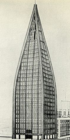 Bruno Taut, Entry to the Chicago Tribune Competition, 1922