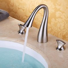 Luxury Bathroom Widespread Sink 3 Hole Mixer Tap Single Handle Kitchen Faucet N/a Bathroom Sink Faucets, Bathroom Fixtures, Bathroom Laundry, Kitchen Faucets, Master Bathroom, Farmhouse Faucet, Copper Faucet, Faucet Parts, Sink Mixer Taps