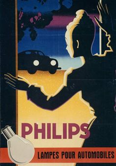 Philips automotive lighting poster ca 1949 | History
