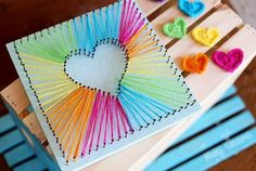 How to Make Lovely DIY Heart String Art | Diy Craft Projects