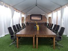 Tent setup indoors