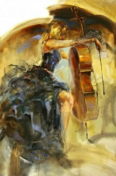 The most beutyfull painting with a cello ❤️ #cello #art #painting