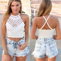 Beach Bikini Top for Women's Bustier Bra Crop Top PTC 266 //Price: $12.95 & FREE Shipping //     #fashion