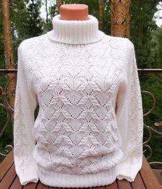 """Красивый узор для пуловера спицами. Узор """"бантики"""" вязаный спицами   Домоводство для всей семьи."""
