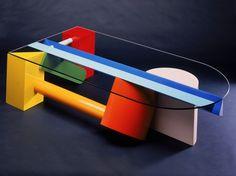John Smith 'Colourblock' coffee table, Australia, 1984.