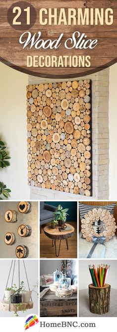 Wood Slice Decorations wood projects projects diy projects for beginners projects ideas projects plans Easy Small Wood Projects, Wood Projects For Beginners, Beginner Woodworking Projects, Woodworking Jigs, Woodworking Furniture, Wooden Crafts, Diy Wood Projects, Wood Slice Crafts, Wooden Slices