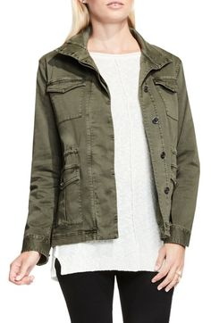 Two by Vince Camuto Stretch Sateen Cargo Jacket available at #Nordstrom
