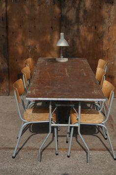 Industrieel Vintage Klaptafels Horeca Partij top patina 2 – Dehuiszwaluw