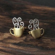 Earrings: Earring Hot Coffeel Plating, Boutique, Sterling Silver, Hot, Earrings, Accessories, Ear Rings, Stud Earrings, Ear Piercings