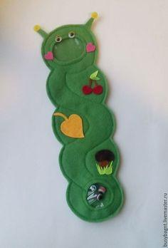 Развивающие игрушки ручной работы. Ярмарка Мастеров - ручная работа. Купить Лабиринт из фетра Гусеница Развивающая игрушка. Handmade.