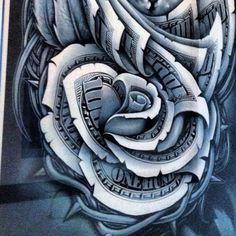 07 Dollar Rose Tattoo