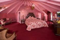 The Madonna Inn. CANNOT wait to stay here. Glittery walls!