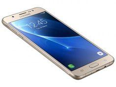 """Smartphone Samsung Galaxy J5 Metal 16GB Dourado - Dual Chip 4G Câm 13MP + Selfie 5MP Flash Tela 5,2"""" com as melhores condições você encontra no Magazine Jsantos. Confira!"""