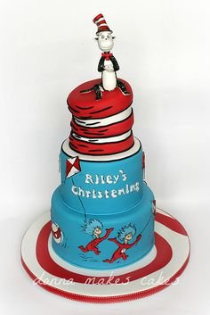 Cat in the hat cake | Dr Seuss | Cake