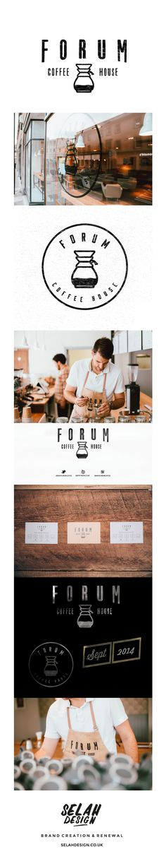 Forum Coffee House Branding Deisgn by Selah Design selahdesign.co.uk