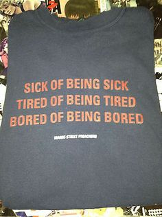 Bored of Being Bored Shirt Soft Grunge 90s Manic Street Preachers | eBay