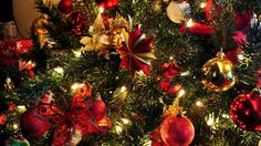 1920x1080 Wallpaper tree, toys, garland, holiday, new year, christmas