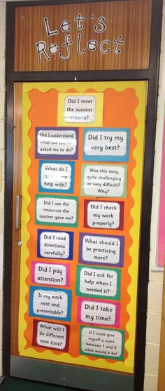 Let's Reflect Door Display: Self Assessment and Evaluation by nichole