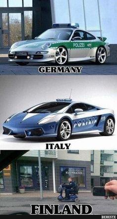 Rentner Police Made in Finnland :) | Lustige Bilder, Sprüche, Witze, echt lustig
