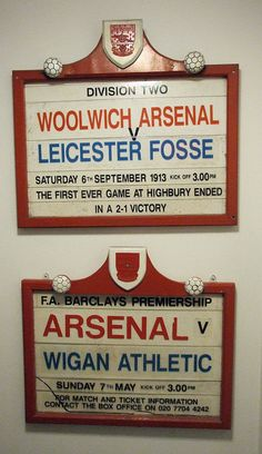 Arsenal signs for the first and last games ever at Highbury..both Arsenal wins!