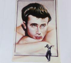 Vintage Jame Dean Card Photo Card, Athena Cards, Hollywood Bad Boys, James Dean Actor, Movie Star James Dean, 1950s Hollywood Legend Print