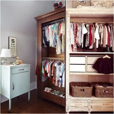 The Armoire-Closet, An Easy Storage Solution For Children - Live Simply by Annie