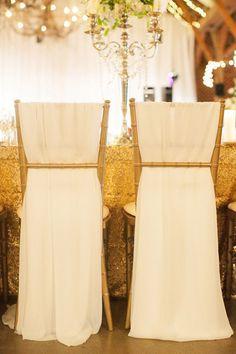 pretty chair draping | Nancy Ray Photography #wedding