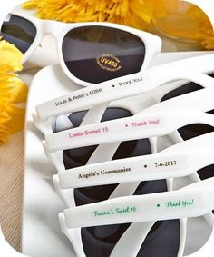Personalized Wedding Party Favor Sunglasses - party favors