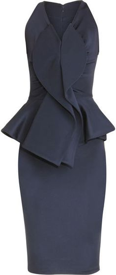 Givenchy navy peplum dress