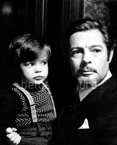 """"""" Chiara Mastroianni and Father Marcello (c. 1975) """""""