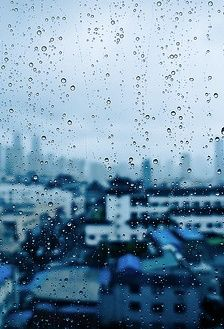 The beauty of rain photography. Rain photography window. rain drops window.