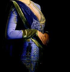 by Anju Modi, blue and green