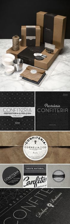 Cornelia And Co Brand Identity Amp Packaging By Oriol Gil Via Behance Stationary Corporate Design Co Design Web, Food Design, The Design Files, Creative Design, Print Design, Corporate Design, Graphic Design Branding, Identity Design, Brand Identity