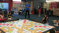 Our giant Scrabble board