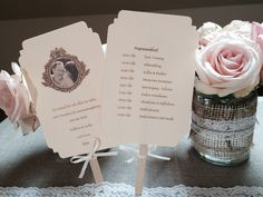 Fächer / Ablaufplan / Save the Date #Gastgeschenk #Vintage #Wedding